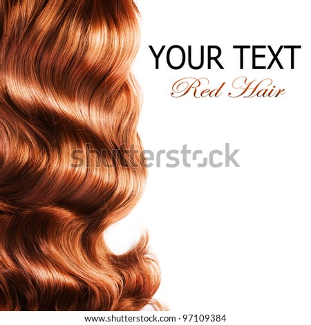 Red Hair over white