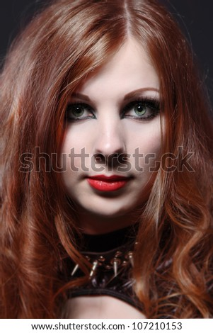 Red-hair woman