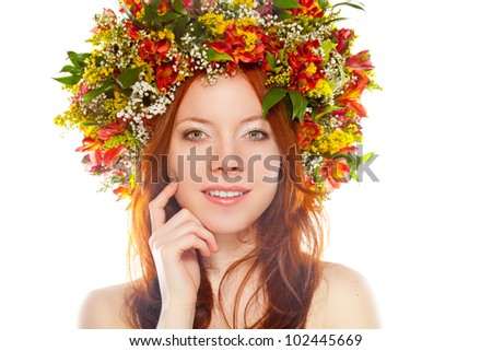 Head Wreath With Flower Wreath on Head