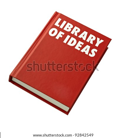 red hardback book cover isolated (clipping path)