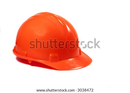 Red Hardhat isolated on a white background