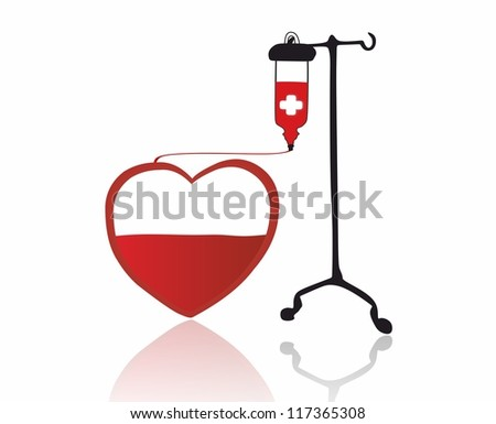 red heart and transfusion