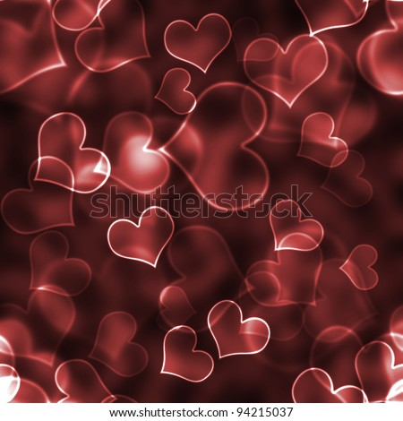 Red Heart Bokeh Background Wallpaper