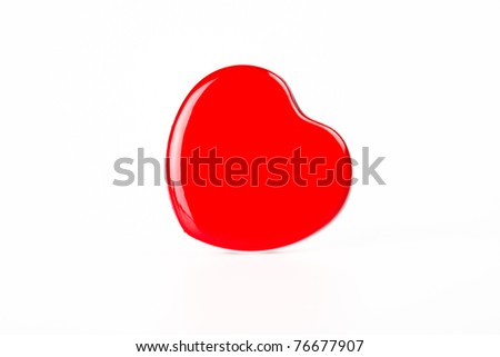 Red Heart box lean to right hand side #76677907