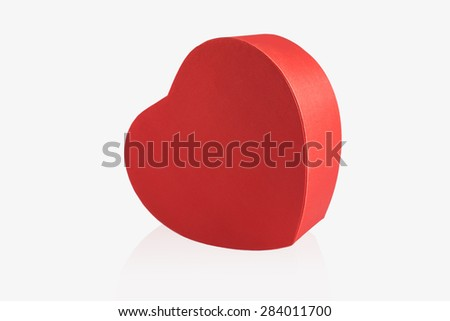 Red heart isolated on white background #284011700