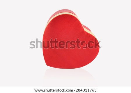 Red heart isolated on white background #284011763