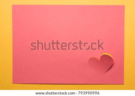 Red heart on a red background with an orange frame. #793990996