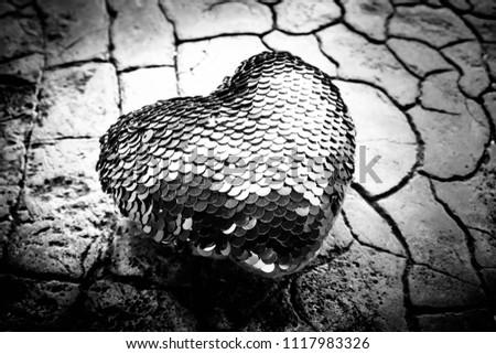 Red heart on floor,Love heart, Love concept #1117983326