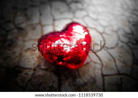 Red heart on floor,Love heart, Love concept #1118539730