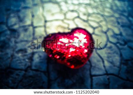 Red heart on floor,Love heart, Love concept #1125202040