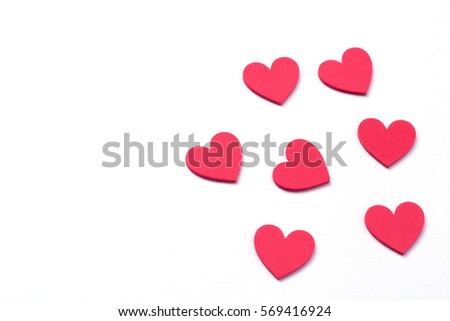 red heart on white background #569416924