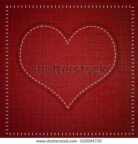red heart  sewing  fabric style.