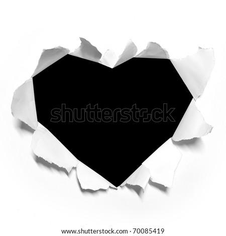 red Heart shape paper