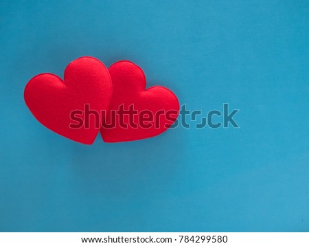 red heart valentine on blue background #784299580