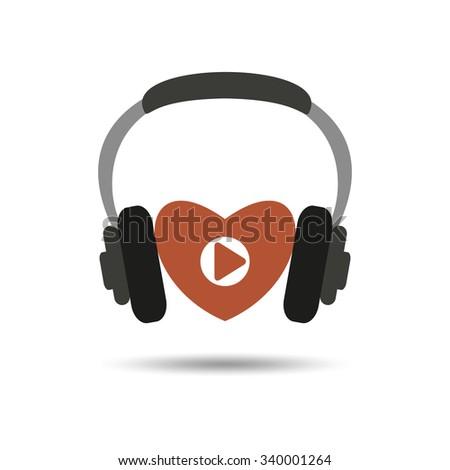 Heart music vector