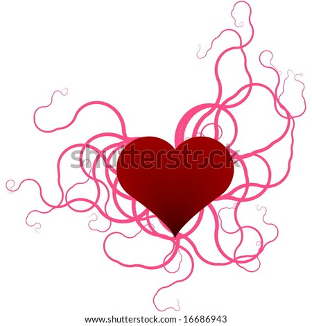 heart clip art free. stock photo : Red heart with