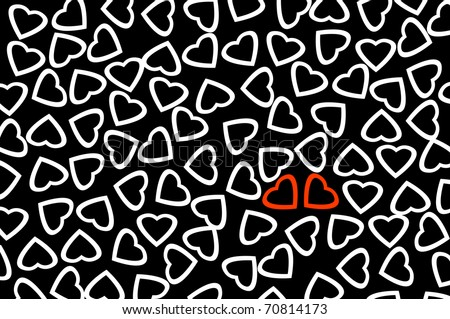 Red Heart White Background Red Hearts And White Hearts