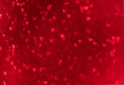 Red hearts bokeh.  Valentines day love background