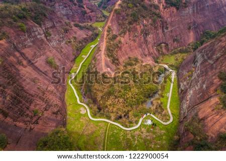 Red Hill of Ci Li Zdjęcia stock ©