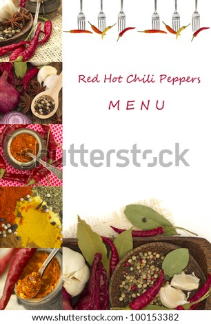 Red Hot Chili Peppers Menu