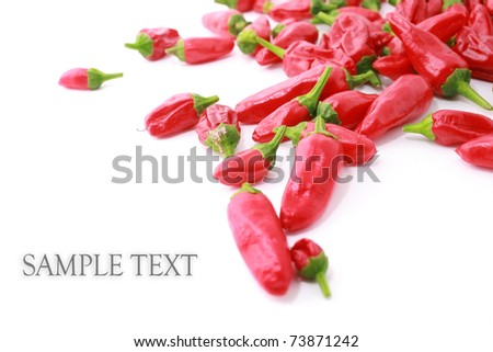 Red hot chilli isolated on white