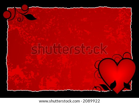 Red hot heart background ready for your message of ...