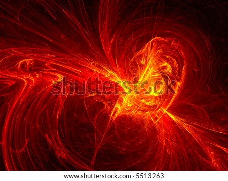 Red hot lava abstract