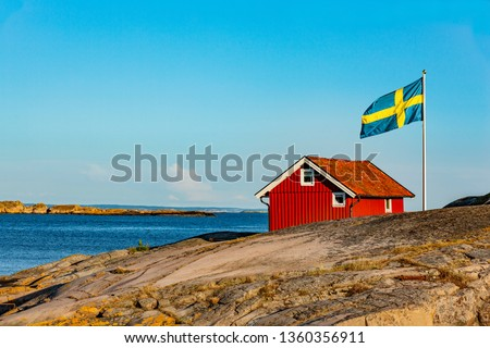 Red House in Sweden Сток-фото ©