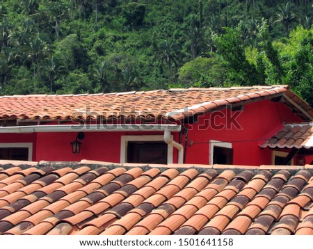 Red hovel stone roof near Baturite forest #1501641158