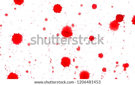 Red ink blots on white #1206481453