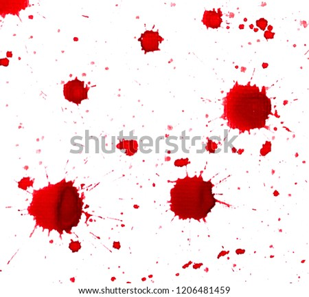 Red ink blots on white #1206481459
