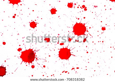 Red ink blots on white #708318382