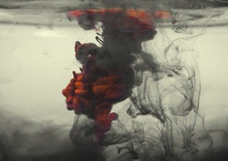 Red Ink In Black Smoke