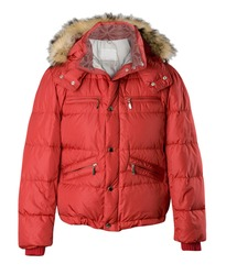 red jacket isolated on white