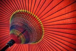 Red Japanese parasol