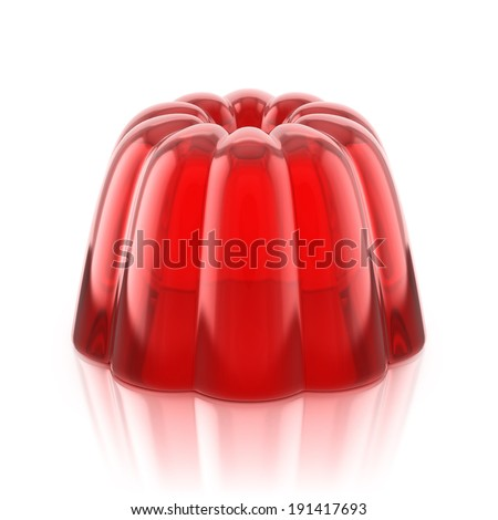 red jelly pudding