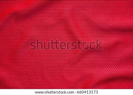 Red jersey sports wear background.