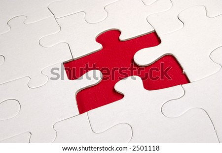 red jigsaw blank