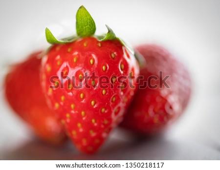 red juicy strawberries #1350218117