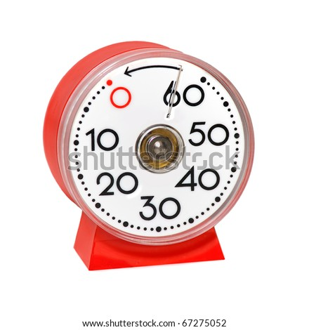 red kitchentimer isolated on white background