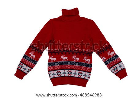 red knitted sweater background...