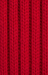 Red Knitted wool background, Full Frame