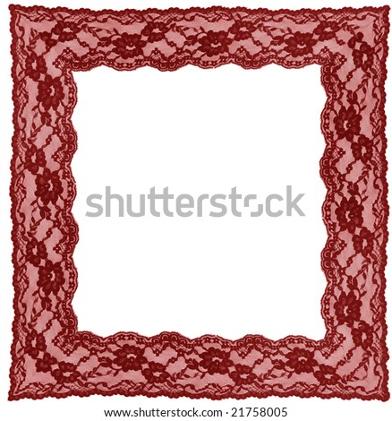 red lace frame