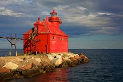 Red Lake Michigan Lighthouse