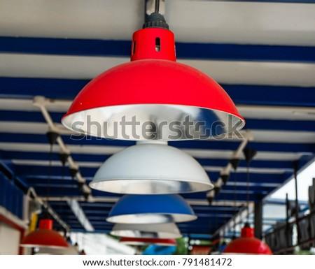 Red lamp White lamp Blue lamp  #791481472
