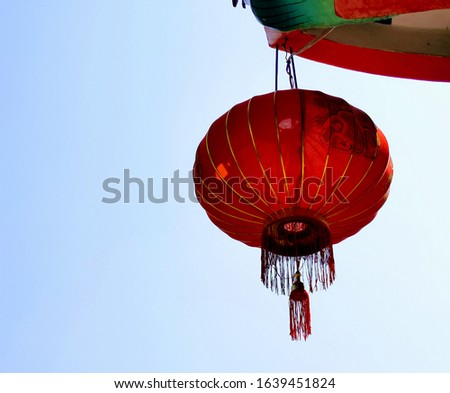 Red lantern in chinese new year