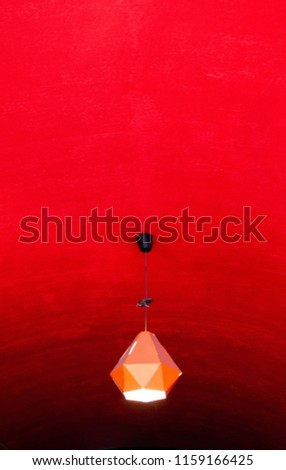red lantern on a red background symbolize the Chinese flag