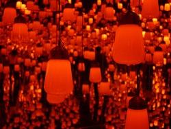 Red Lanterns - Digital Art Museum in Tokyo, Japan