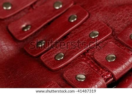 red leader accent of handbag