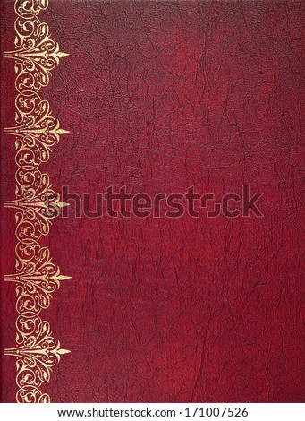 Red leather book cover